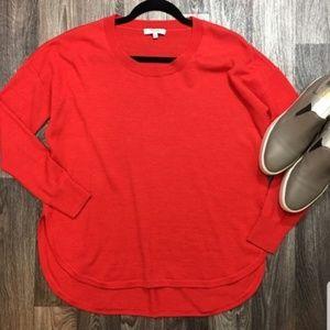 Madewell 100% Wool red Crewneck Oversized Sweater
